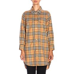 Shirt Burberry Redberry Shirt In Check Cotton