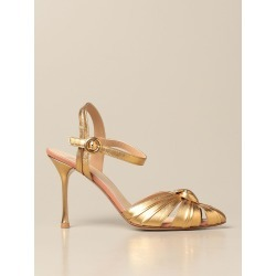Heeled Sandals FRANCESCO RUSSO Women color Gold found on Bargain Bro from giglio.com us for USD $687.00