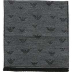 Scarf Emporio Armani Blended Wool Scarf With All Over Logo
