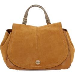 Handbag Borbonese Handbag In Suede With Printed Handle