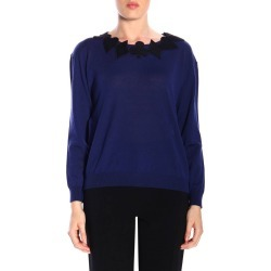Sweater Boutique Moschino Crew Neck Sweater In Wool With Card Symbols