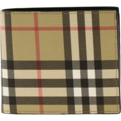 Wallet Burberry Check Leather Wallet
