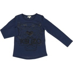T-shirt Kenzo Junior Long-sleeved Shirt With Kenzo Paris Maxi Tiger Logo