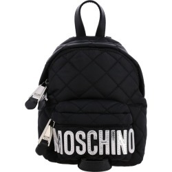 Backpack Moschino Couture Nylon Backpack With Maxi Laminated Logo