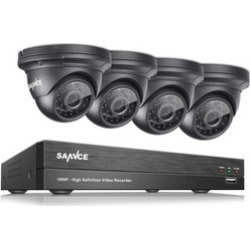 SANNCE 1080P 4CH DVR 4Pcs 2MP Survelliance Security Camera System found on Bargain Bro India from groupon for $129.99