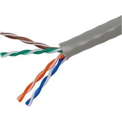 1000ft Cat5e-Gray Ethernet Bulk Cable Solid 350Mhz UTP Copper 24AWG