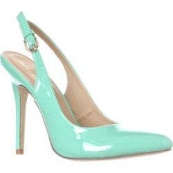 Riverberry 'Lucy' Pointed-Toe Sling Back Pump Heels, Mint Patent