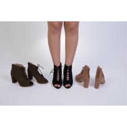 "N Demand Shoes ""Ghillie"" Peep-toe Fashion Boots LA241-2"