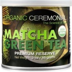 Organic Ceremonial Matcha Green Tea Powder 3 oz Tin