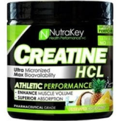 Nutrakey 6150088 Creatine Hcl Unflavored, 125 Serving