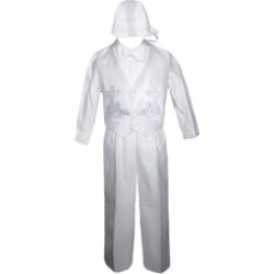 Baby Boy White Christening Baptism Special Gown 0 -24 Months