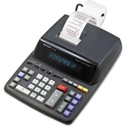 Sharp EL2196BL Two-Color Printing Calculator, Black/Red Print
