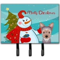 Carolines Treasures BB1852TH68 Snowman With Yorkie Puppy Leash & Key Holder