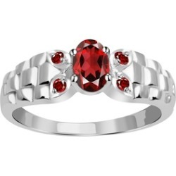 Orchid Jewelry 925 Sterling Silver 0.78 Carat Garnet Anniversary Ring