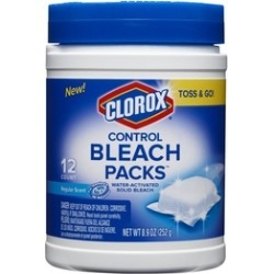 Clorox Control Bleach Packs, Regular, 12 Count