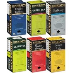 Bigelow Tea Co. Assorted Tea Packs, Six Flavors, 28/Box, 168/Carton