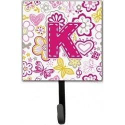 Carolines Treasures CJ2005-KSH4 Letter K Flowers And Butterflies Pink Leash