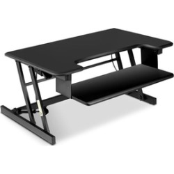 Height Adjustable Standing Desk Sit-Stand Desk Converter w/ Keyboard Tray Black