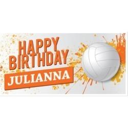 Volleyball Birthday Banner