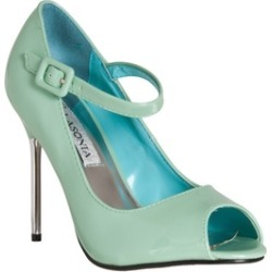 Riverberry Women's 'Peep Toe Mary Jane Style Stiletto Heels, Mint