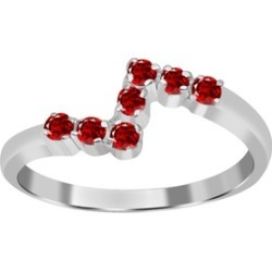 Orchid Jewelry 925 Sterling Silver 0.35 Carat Garnet Ring