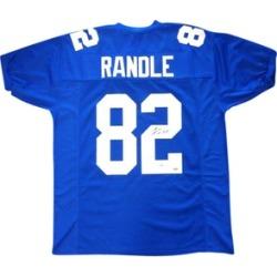 Autographed Rueben Randle New York Giants Blue Custom Jersey