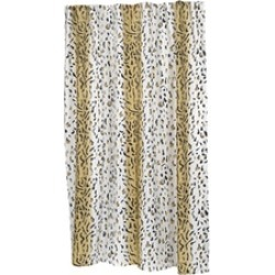 Carnation Home Fashions Extra Long Hailey Fabric Shower Curtain