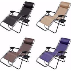 Zero Gravity Folding Recliner Lounge Chair (Set of 2)