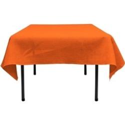 LA Linen TCBurlap52x52-Orange Square Dyed Natural Burlap Tablecloth Orange - 52