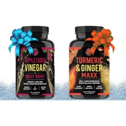Angry Supplements Apple Cider Vinegar and Turmeric Ginger Maxx (2-Piece)