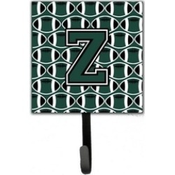 Carolines Treasures CJ1071-ZSH4 Letter Z Football Green & White Leash