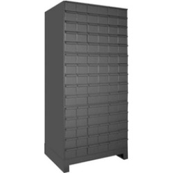 Durham 028-95 17.75 in. Steel 60 Drawer Cabinet for Small Part Storage Gray