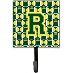 Carolines Treasures CJ1075-RSH4 Letter R Football Green & Yellow Leash Holder
