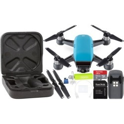 DJI Spark Portable Mini Drone Starters Bundle with Gimbal-Mounted 1080p Full HD Camera