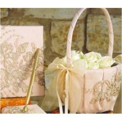 Ivy Lane Design 226V Bella Donna Flower Girl Basket - Champagne