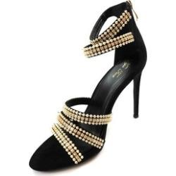 Women's Rhinestone Open Toe High Heel Ankle Straps Sandals Barbara-87
