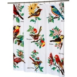 Carnation Home Fashions Audubon Fabric Shower Curtain