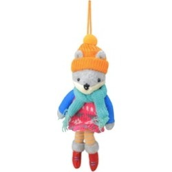 """7"""" Plush Wolf Girl with Dangling Legs Christmas Ornament"""