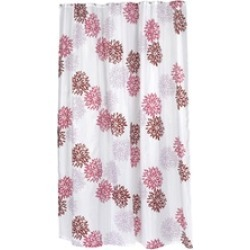 Carnation Home Fashions Extra Long Emma Fabric Shower Curtain