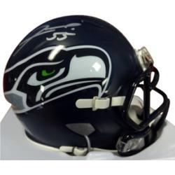 Autographed Frank Clark Seattle Seahawks Speed Mini Helmet