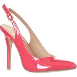Riverberry 'Lucy' Pointed-Toe Sling Back Pump Heels, Fuchsia Patent