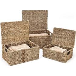 Trademark Innovations Rectangular Seagrass Baskets