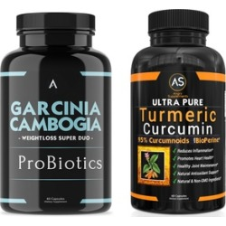 Angry Supplements Garcinia Cambogia ProBiotics and Ultra Pure Turmeric Curcumin Dietary Supplements