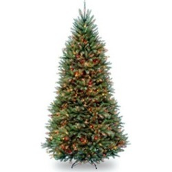 National Tree DUH-90RLO 9 ft. Hinged Tree with 900 Multi