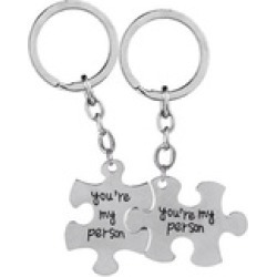Greys Anatomy key rings 2 You Are My Person keychains