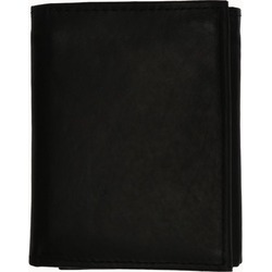 Mens Genuine Leather Trifold ID Window Vertical Card Slots Wallet