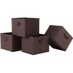 Capri Set of 4 Foldable Chocolate Fabric Baskets