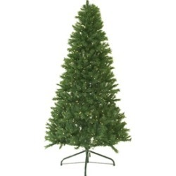 9' Pre-Lit Canadian Pine Artificial Christmas Tree - Clear Lights