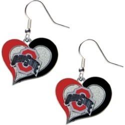 Sports Team Logo Swirl Heart Dangle Logo Earring Set Charm Gift NCAA