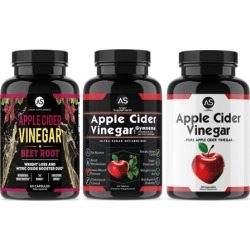 Angry Supplements Apple Cider Vinegar with Beetroot, Garcinia Cambogia, and Pure (3-Piece)